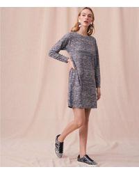 LOFT - Gray Lou & Grey Marled Drop Shoulder Dress - Lyst
