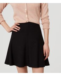 LOFT Black Flippy Skirt
