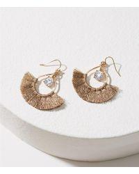 LOFT - Metallic Stone Tassel Earrings - Lyst