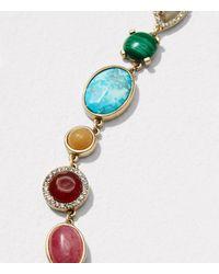 LOFT - Metallic Mixed Stone Necklace - Lyst