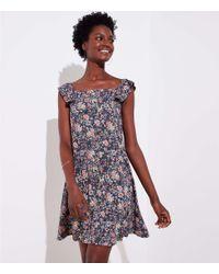 LOFT Multicolor Tall Rose Garden Flutter Swing Dress