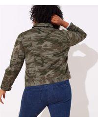 LOFT Green Plus Camo Twill Jacket