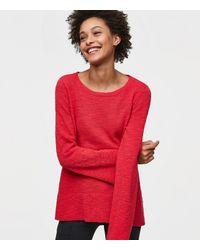 LOFT - Red Petite Flare Sleeve Sweater - Lyst