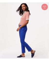 LOFT Blue Petite Slim Pants In Julie Fit