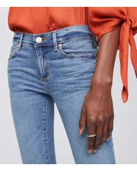 LOFT Blue Modern Softest Skinny Jeans In Classic Light Indigo Wash