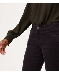 LOFT - Gray Modern Straight Leg Corduroy Pants - Lyst