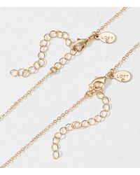 LOFT - Metallic Double Stone Pendant Layering Necklace Set - Lyst