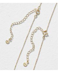 LOFT - Metallic Hammered Pave Layering Necklace Set - Lyst