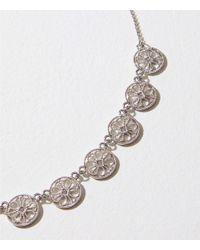 LOFT - Metallic Filigree Necklace - Lyst