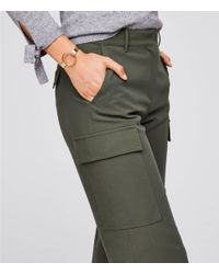 LOFT Multicolor Wide Leg Utility Pants