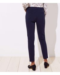 LOFT Blue Tall Skinny Ankle Pants In Curvy Fit