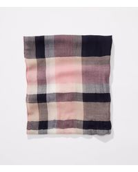 LOFT Multicolor Wooly Plaid Infinity Scarf