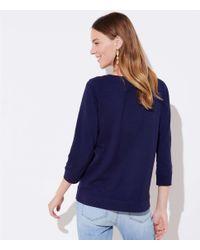 LOFT - Blue Bird Tree Sweatshirt - Lyst