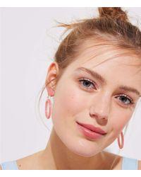 LOFT - Pink Pastel Drop Earrings - Lyst