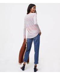 LOFT - Multicolor Mixed Spacedye Long Sleeve Tee - Lyst