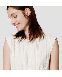 LOFT - White Pueblo Dress - Lyst