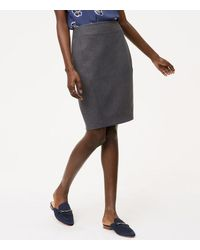 LOFT | Multicolor Curvy Seamed Scuba Pencil Skirt | Lyst