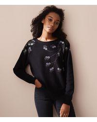 LOFT Black Lou & Grey Branchout Sweatshirt