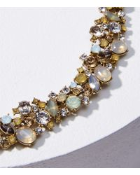 LOFT Metallic Gem Statement Necklace
