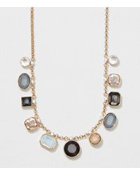 LOFT - Metallic Winter Getaway Multi Casted Necklace - Lyst