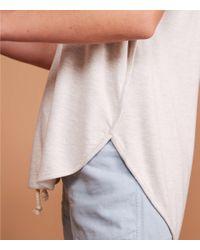 LOFT Gray Lou & Grey Signaturesoft Seamed Shirttail Tee