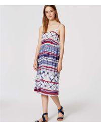 LOFT - Blue Beach Watercolor Dress - Lyst