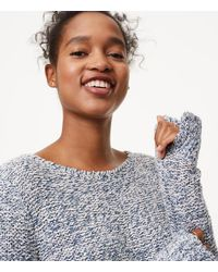 LOFT - Multicolor Petite Marled Shirttail Sweater - Lyst