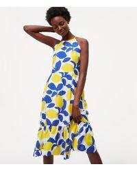LOFT White Petite Lemonade Halter Dress