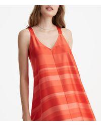 LOFT - Red Lou & Grey Striped Luster Swing Dress - Lyst
