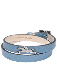 Bracelet Le Pliage Club Longchamp en coloris Blue