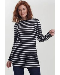 Long Tall Sally Black Tall Breton Tunic
