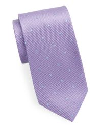 Black & Brown - Purple Classic Polka Dot Tie for Men - Lyst