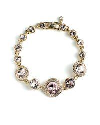Givenchy | Metallic Crystal Pave Bracelet | Lyst