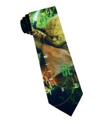 Star Wars - Green Yoda Tie for Men - Lyst