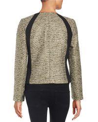 Nipon Boutique - Black Metallic Tweed Blazer - Lyst