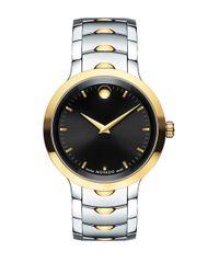 Movado Black Luno Stainless Steel Analog Bracelet Watch