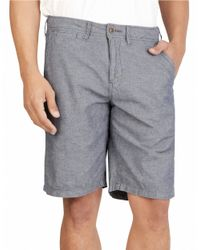 Lucky Brand - Blue Cotton Chambray Shorts for Men - Lyst