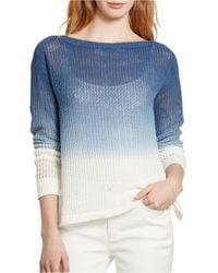 Lauren by Ralph Lauren | Natural Ombre Ribbed Knit Sweater | Lyst