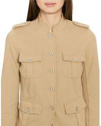 Lauren by Ralph Lauren - Multicolor Cotton Jersey Military Jacket - Lyst
