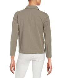 Lafayette 148 New York   Gray Cassidy Stretch-cotton Topper   Lyst