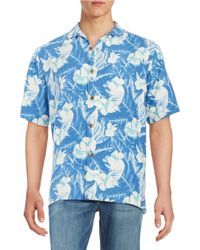 Tommy Bahama - Blue Silk Hawaiian Shirt for Men - Lyst
