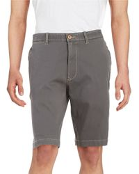 Tommy Bahama | Gray Bedford And Sons Flat Front Shorts for Men | Lyst