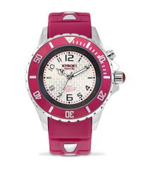 Kyboe - Pink Power Burgundy Silicone And Stainless Steel Watch, 402715 - Lyst