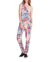 BCBGeneration - Multicolor Tropicalia One-shoulder Bodysuit - Lyst