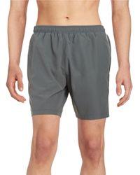 5b04fd6618 BOSS Green Seabream Swim Shorts in Gray for Men - Lyst