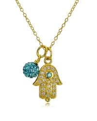 Lord & Taylor - Multicolor Goldtone Hamsa Hand And Fireball Pendant Necklace - Lyst