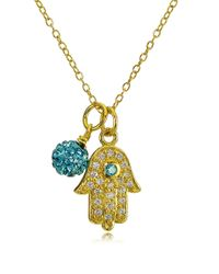 Lord & Taylor | Multicolor Goldtone Hamsa Hand And Fireball Pendant Necklace | Lyst