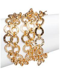 Trina Turk   Metallic Goldtone Multi-row Link Bracelet   Lyst