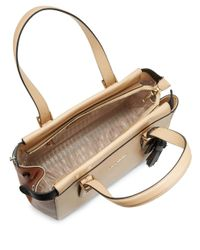 Karl Lagerfeld - Natural Smooth Leather Satchel - Lyst
