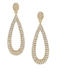 Nadri Metallic Pave Teardrop Earrings